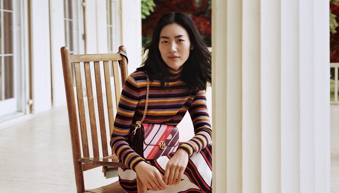 Liu Wen fronting Tory Burch Chinese Valentines Day campaign