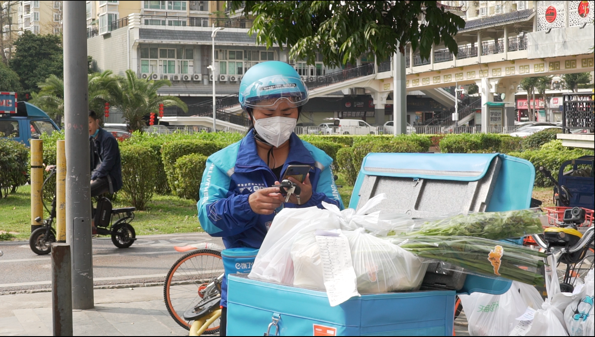 Ele.me delivery rider Shang Xinyuan